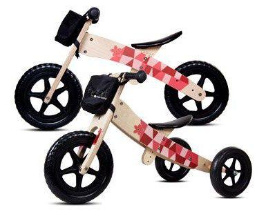 Rowerek biegowy drewniany dwu- i trójkołowy wjednym Sun Baby Twist