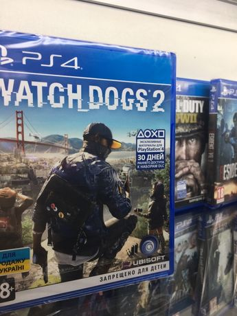 PS4 Watch Dogs 2 диск на Русском
