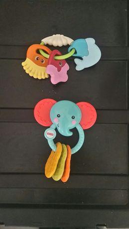 Conjunto 2 brinquedos p/ bébé chocalhos FISHER PRICE / CHICCO