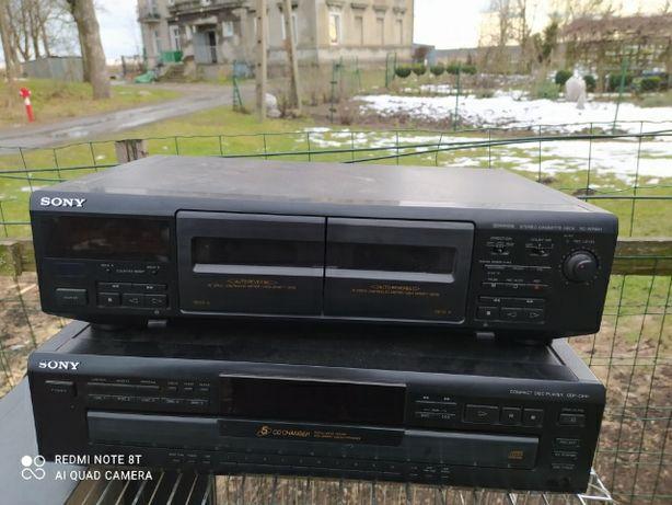 Magnetofon kasetowy i zmieniarka do płyt