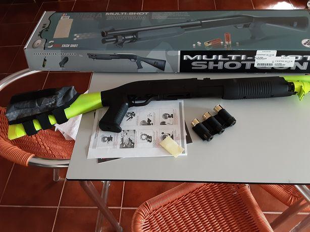 Airsoft réplica shot gun tri shot doble Eagle
