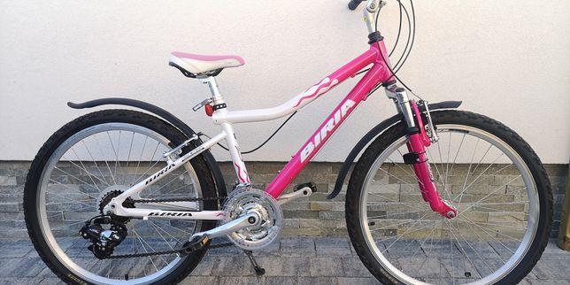 Śliczny aluminiowy rower Biria koła 24 dla dziewczynki ok. 7-10lat