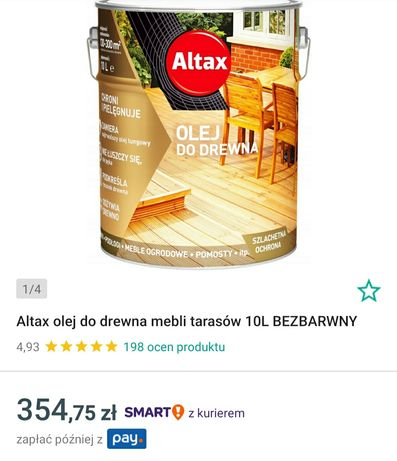 Olej do drewna Altax 10L