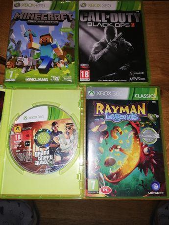 Gry xbox360 Minecraft,Rayman,CalloofDuty,GTA