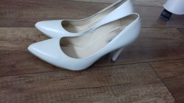 buty ślubne la boda 39 białe
