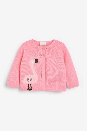 *NEXT* różowy sweterek z pelikanem r. 18-24m/92 cm