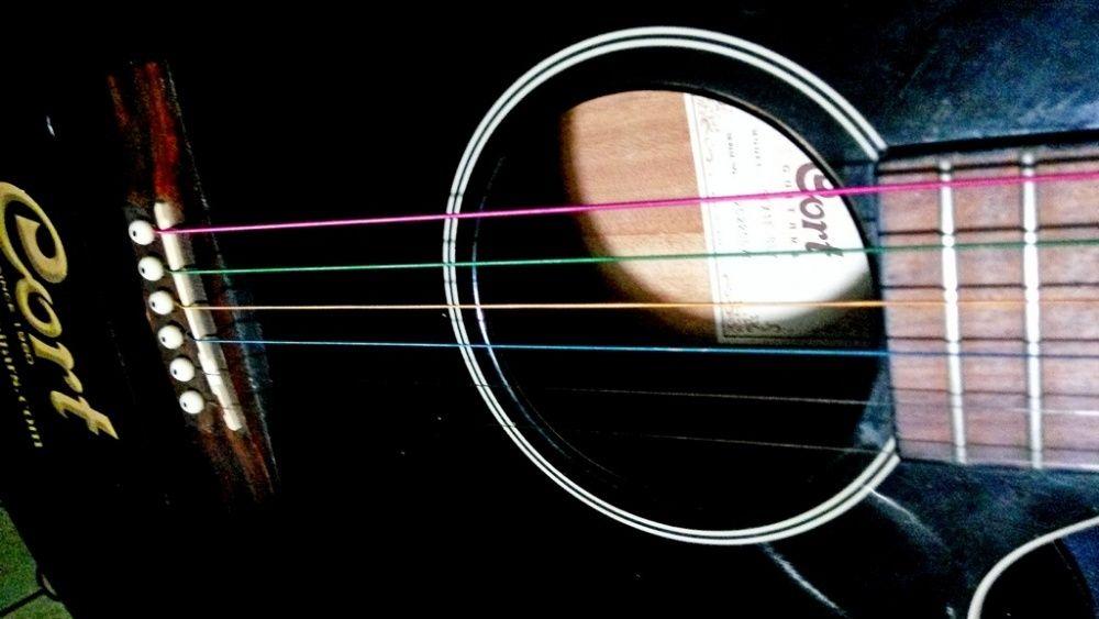 Красочные струны цветные струны для акустической гитары. Rainbow.