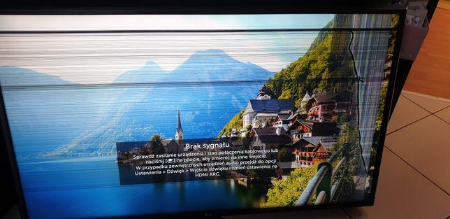 Tv 43cale LG 4K uszkodzona matryca