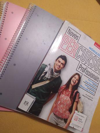Vendo livro 12° ano e 2 cadernos Argolas novos