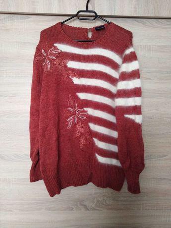 Sprzedam sweter hafty korale fluffy vintege