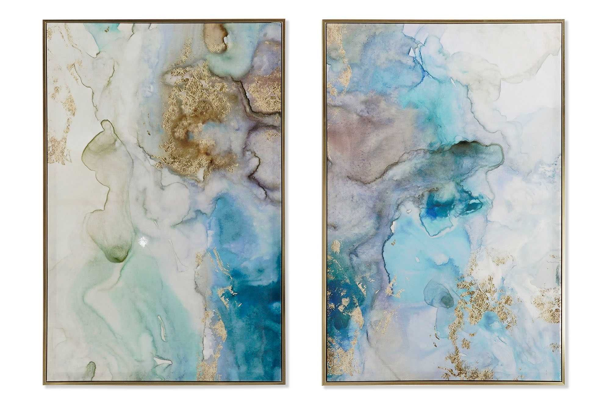 Quadro Abstracto Golds 4 modelos- 60X3X90cm By Arcoazul