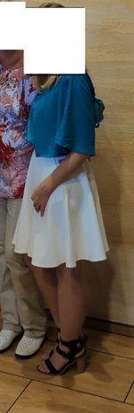 Biała spódnica wysoki stan ślub S Orsay
