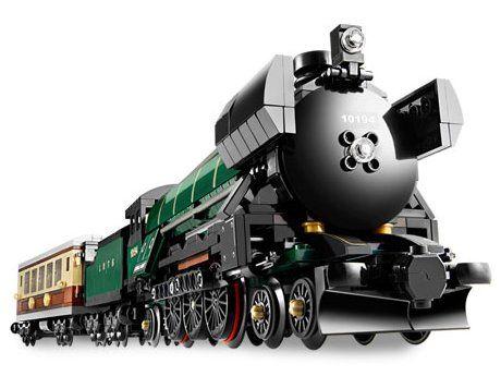 Lego, Lepin Train, Emerald Night (потяг, поїзд, анагалог, лего поезд)
