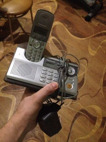 Телефон атс стационарный домашний Panasonic автоответчик