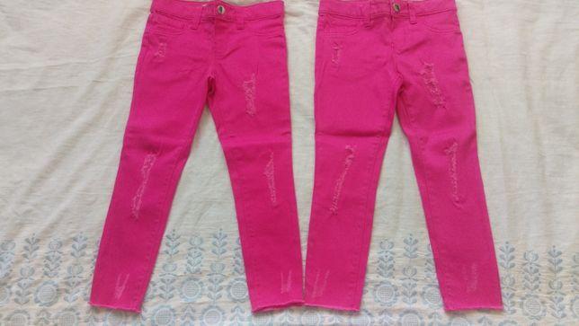 Nowe spodnie dzinsowe przecierane bliźniaczki