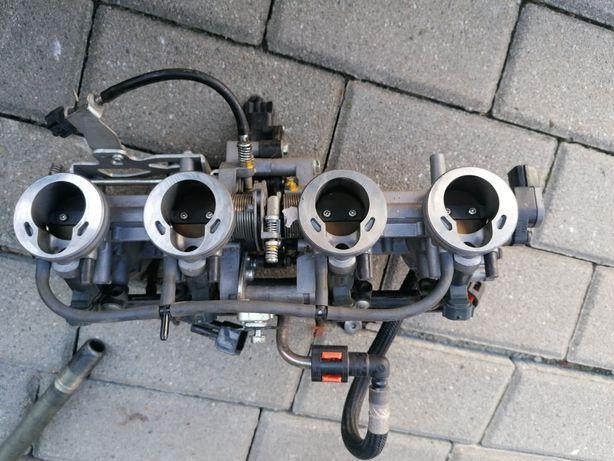 Kawasaki Z 750 rok 2013 przepustnice wtryski czujnik położenia