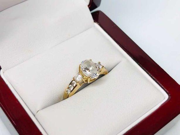 złoty pierścionek 14ct 3,45g R:16