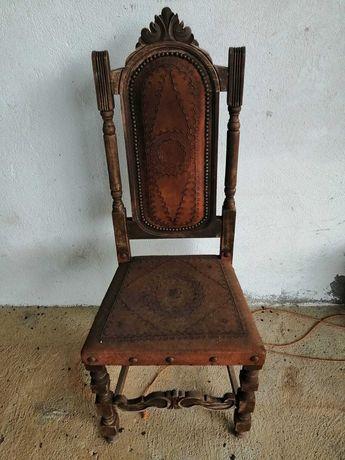 Conjunto cadeiras antigas p/restaurar