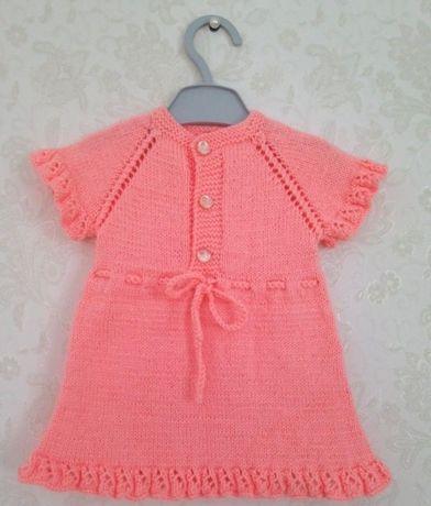 Тёплое платье для малышки.