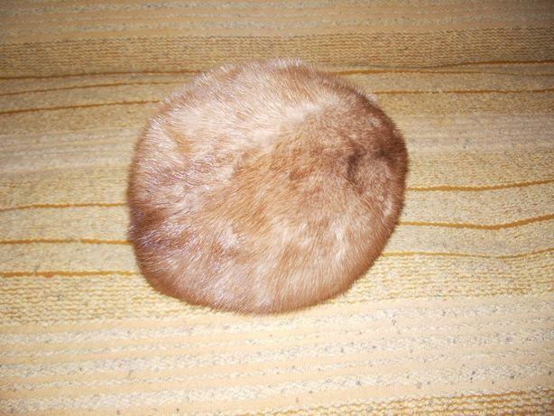Czapka zimowa norki canadyjskie beżowa rozm.53 cm.