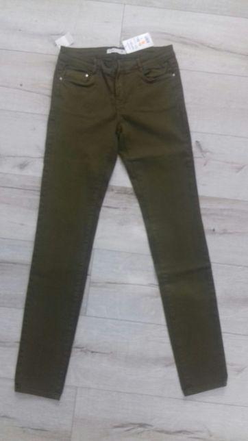 Nowe spodnie rurki khaki r-36-38