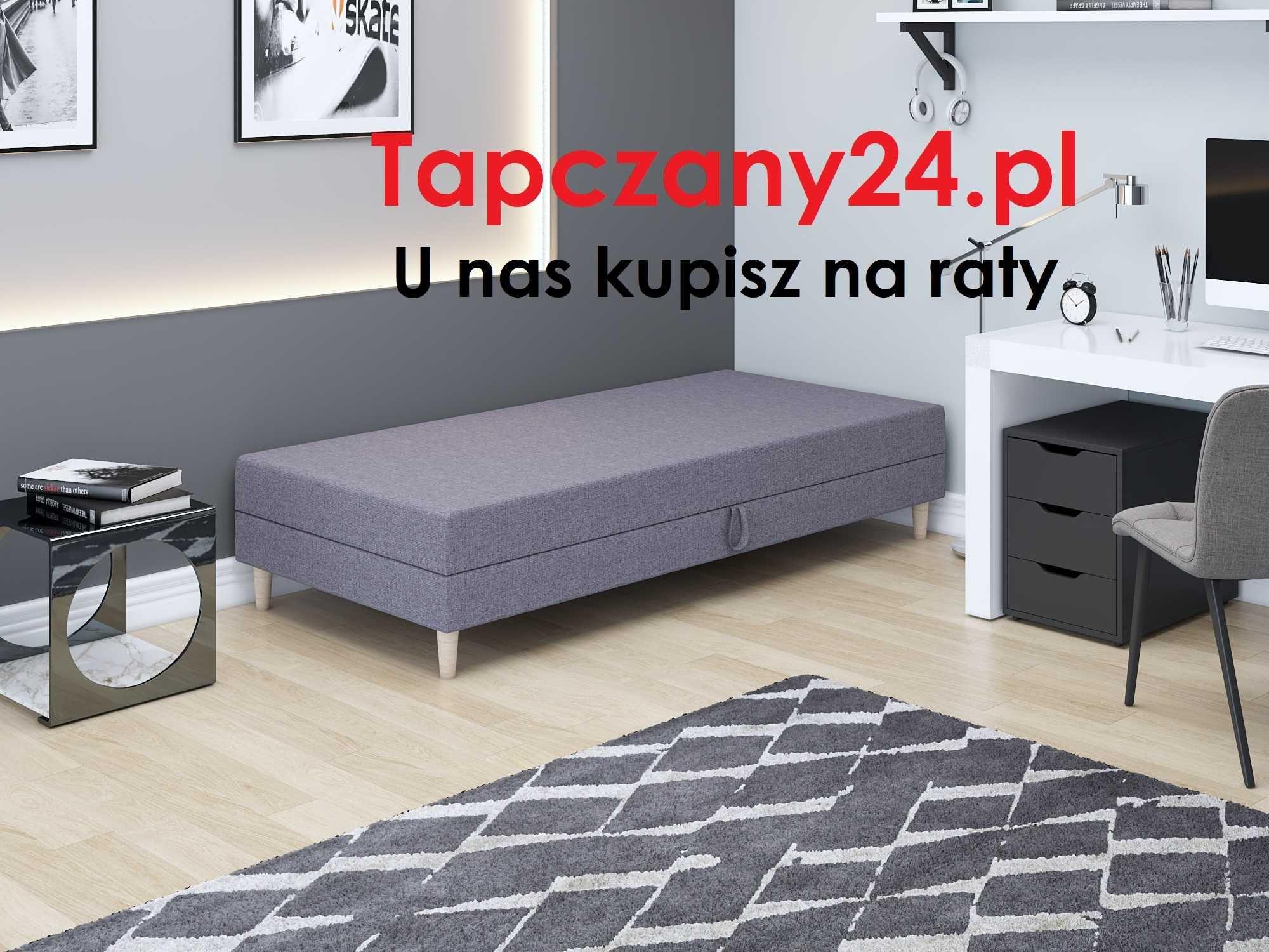 Łóżko młodzieżowe jednoosobowe skandynawskie +pojemnik +materac