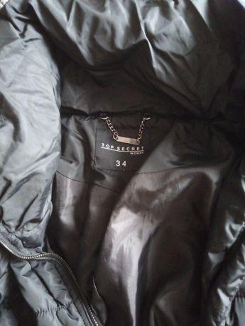 Czarna damska kurtka z kołnierzem Top Secret