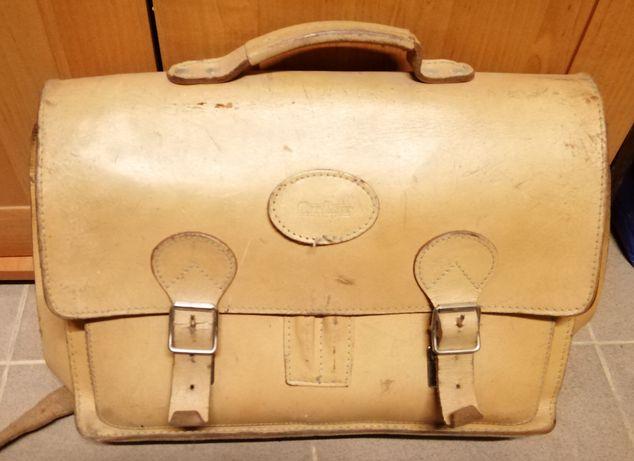 Skórzana torba City Line aktówka lata 80