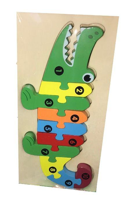 Drewniane Puzzle Klocki Układanka Krokodyl Radom - image 1