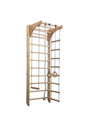 Drabinka gimnastyczna KINDER 240 cm drewniana + akcesoria