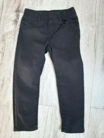 Grafitowe spodnie materiał jak dżins dla 4-latka
