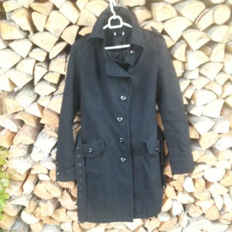 Klasyczny Czarny płaszcz jesień zima 40