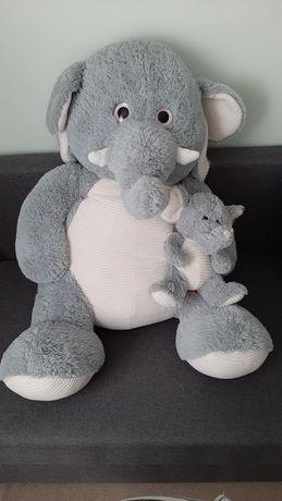 Smiki, Słoń z dzieckiem, maskotka, 80 cm