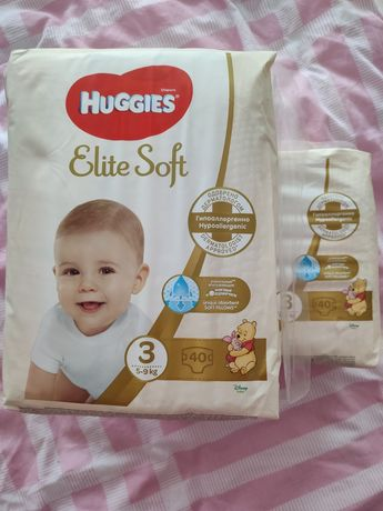 Підгузки Huggies Elite Soft 3 5-9 кг 40 шт.