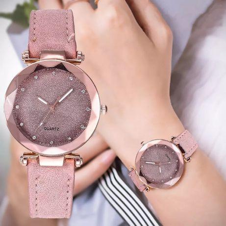 Nowy zegarek damski brokatowa tarcza cyrkonie