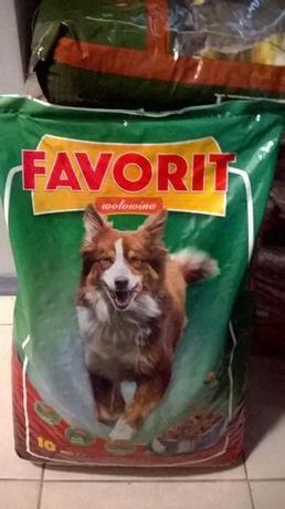 FAVORIT z Wołowiną karma dla psa PROMOCJA 30kg