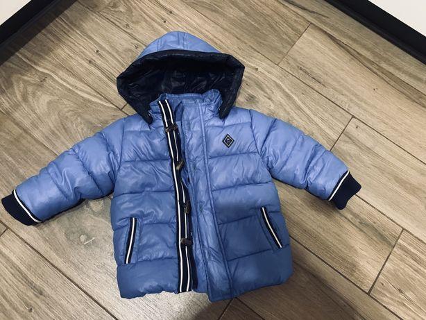 Sliczna niebieska kurteczka pikowana Mayoral 74-86