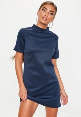 granatowa sukienka mini