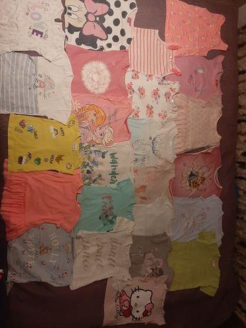180 szt Paka ubranek dla dziewczynki 86-110