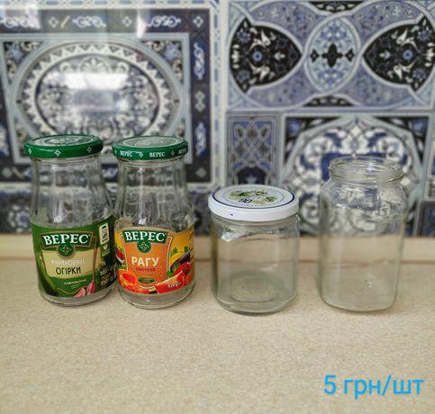 Разные стеклянные банки 0.5л бутылочки 0.2л с крышками