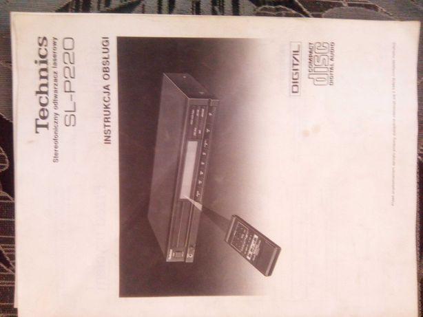 instrukcja obsługi  technics sl-p220 odtwarzacz cd