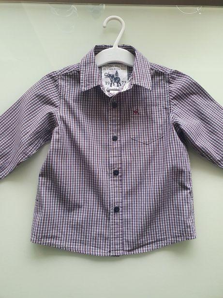 Ładna koszula chłopięca w kratkę 98/104 cm!