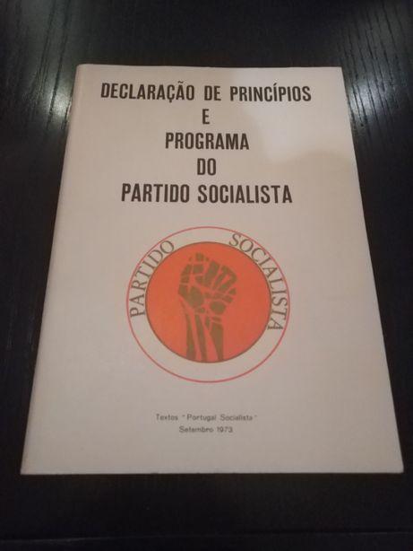 Raridade. Declaração de princípios e programa do Partido Socialista