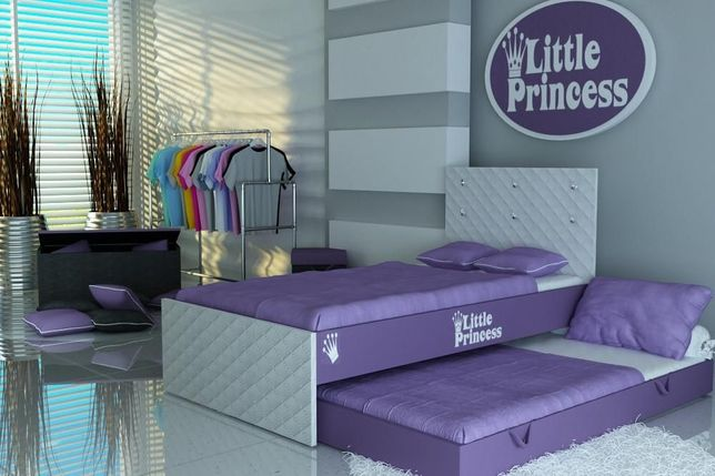 Łóżko piętrowe dla dzieci, łóżko dla małych i dużych księżniczek, raty
