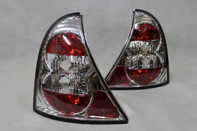 Lampy światła tył tylne RENAULT clio 2 II 98-01 TUNING Chrom NOWE!