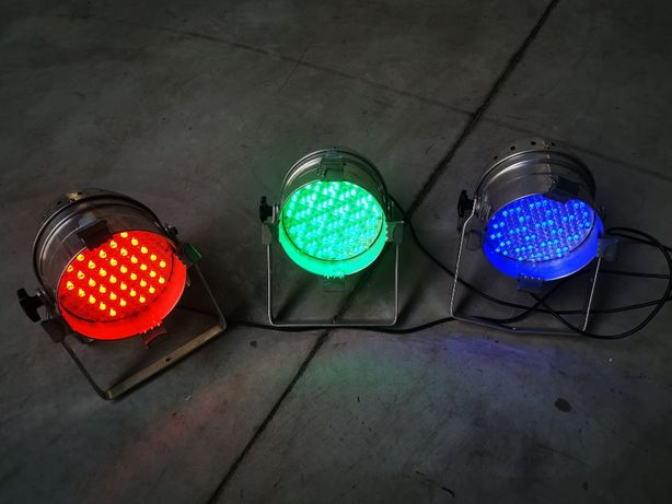 Reflektor LED PAR 64 Srebrny 3 szt