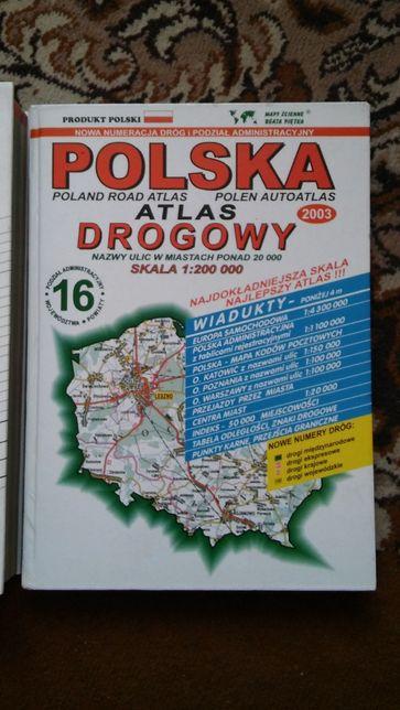 Atlas drogowy Polska 2003r skala 1:200000 Beata Piętka