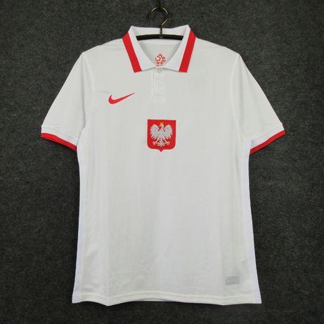 EURO 2020 Nike Reprezentacja Polski 2021 S M L XL [NADRUK] Dom Wyjazd