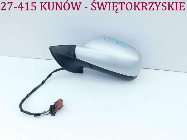 ---Peugeot 407 lusterko lewe EZRC 7 pin elektryczne srebrne