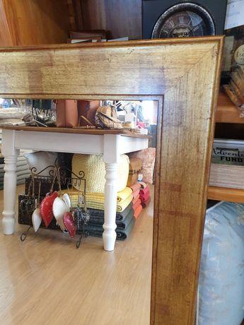 2 espelho, dourado,  madeira,  grande, rustico,  decoração